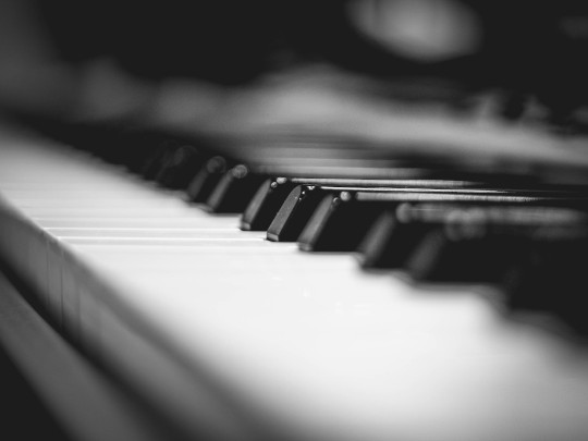 Image of piano keys. From pexels.com